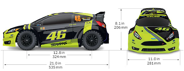 VR46 Ford Fiesta ST Rally Specs