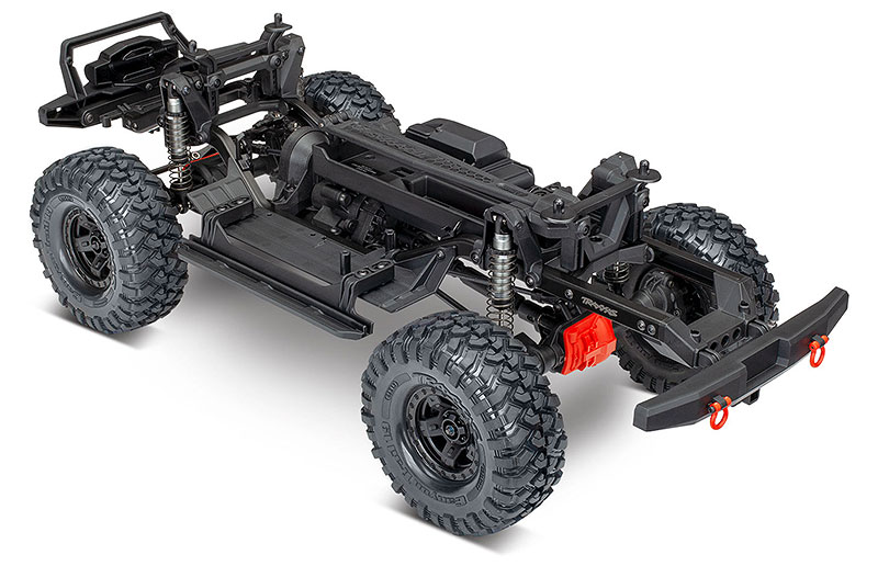 TRX-4 Sport Kit (#82010-4) Rear Three-Quarter Chassis (shown as assembled)