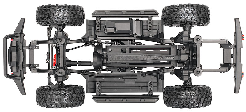 TRX-4 Sport Kit (#82010-4) Top View Chassis (shown as assembled)