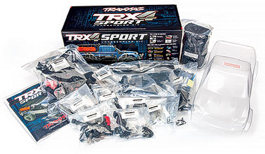 TRX-4 Sport Kit (#82010-4) Kit Contents and Box Packaging