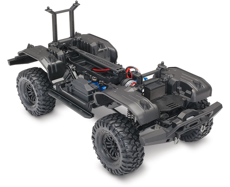 TRX-4 Crawler Kit (#82016-4) Three-Quarter Chassis (shown as assembled)