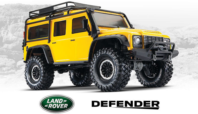 TRX-4 Defender (#82056-4) Front Three-Quarter View (Special Edition Yellow)