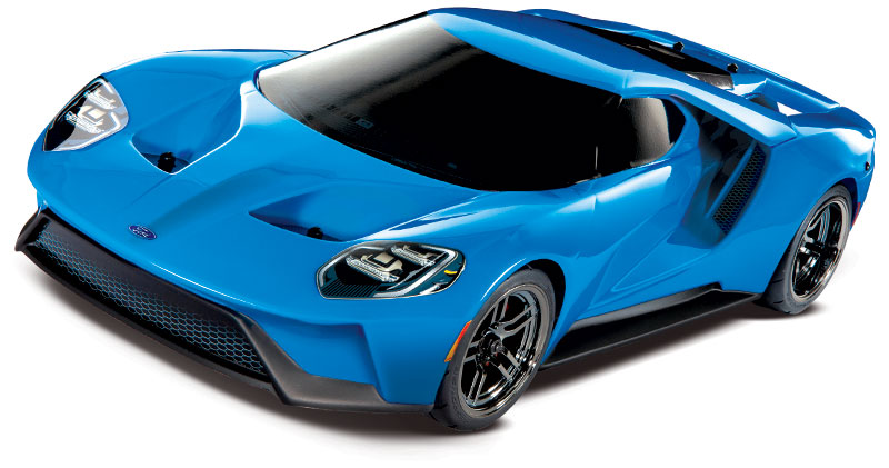 Ford GT (83056-4) Three-Quarter Front Blue