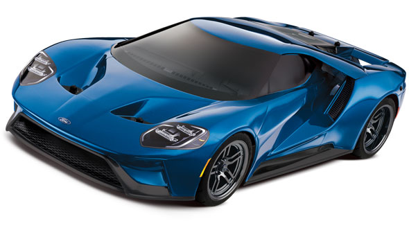 Ford GT (83056-4) 3qtr Front Blue