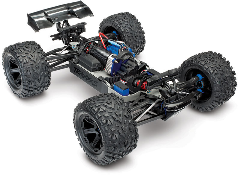 E-Revo (#86086-4) Three-Quarter Chassis View