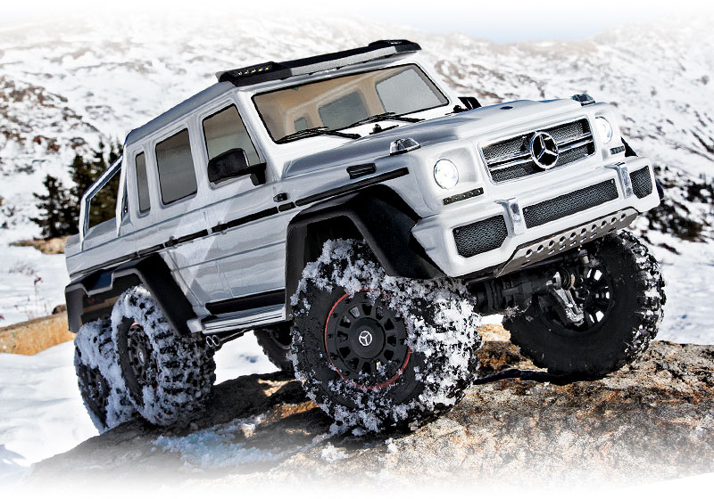 TRX-6 Mercedes-Benz G 63 AMG 6x6 (#88096-4) Snow Action (White)