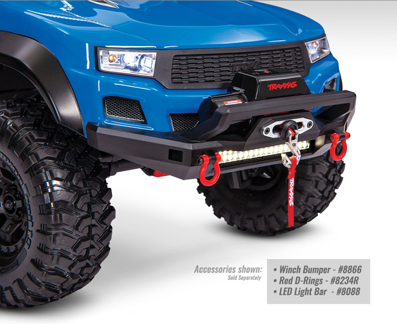 Installed (with LED Lights) – Pro Scale Winch for TRX-4 and TRX-6 (#8855)