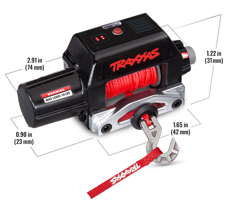 Specs – Pro Scale Winch for TRX-4 and TRX-6 (#8855)