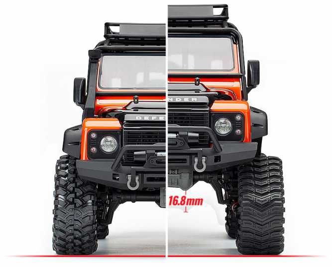 Additional 16.8mm of Ground Clearance - TRX-4 All-Terrain Traxx (#8880)