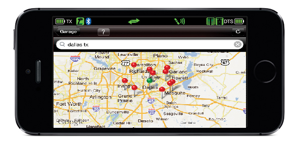 Store Finder Screen (Traxxas Link App)