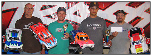 Expert Slash winners (left to right): Dan Discenza (fifth place), Keith Whisler (second place), Jake McGarvey (winner), and Joey King (fourth).