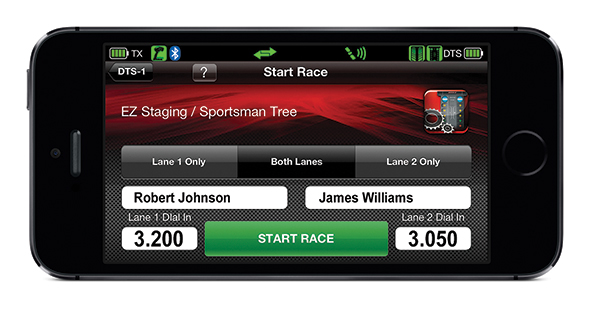 DTS-1: Start Race Screen (Traxxas Link App)