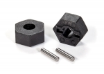 1654 Wheel hubs, hex (2)/ stub axle pins (2)