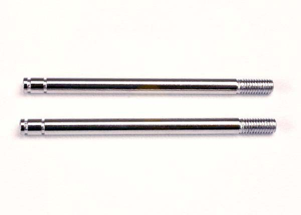 1664 Shock shafts, steel, chrome finish (long) (2)