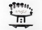1914R Body mount, front & rear (black)/ body posts, 52mm (2), 38mm (2), 25mm (2), 6.5mm (2)/ body post extensions (4)/ hardware