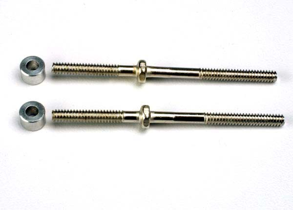 Traxxas 1937 Turnbuckles (54mm) (2) /  3x6x4mm aluminum spacers (rear camber links)