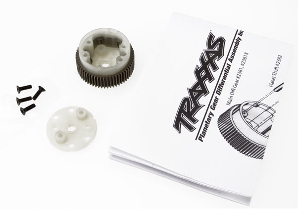 Traxxas 2381X Main diff with steel ring gear /  side cover plate /  screws (Bandit ,  Stampede® ,  Rustler®)