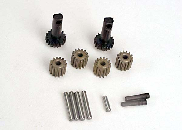 Traxxas 2382 Planet gears (4) /  planet shafts (4) /  sun gears (2) / sun gear alignment shaft (1) all hardened steel