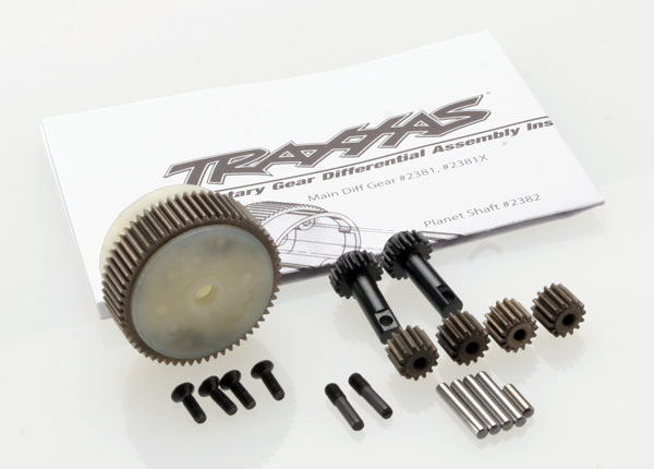 Traxxas 2388X Planetary gear differential with steel ring gear (complete) (fits Bandit ,  Stampede® ,  Rustler®)