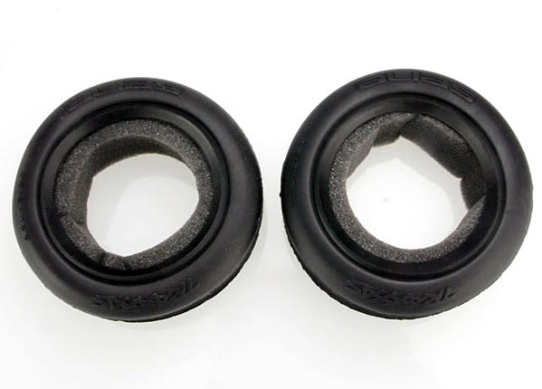 Traxxas 2471 Tires ,  Alias® ribbed 2.2' (wide ,  front) (2) /  foam inserts (Bandit) (soft compound)
