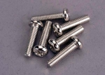 2573 Screws, 4x15mm roundhead machine (6)