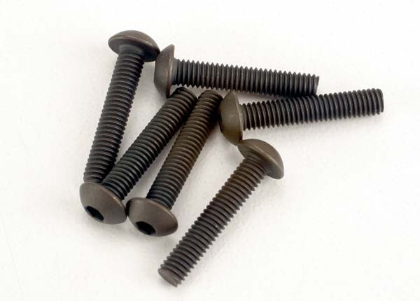 2579 Screws 3x15mm button-head machine (hex drive) (6)