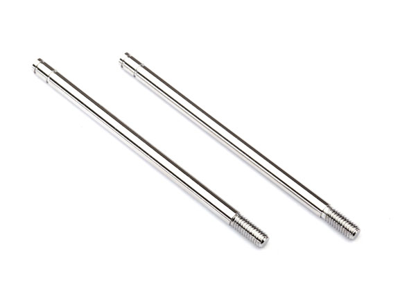 2656 Shock shafts, steel, chrome finish (xx-long) (2)