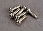 2674 Screws, 2x6mm roundhead self-tapping (6)