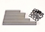 2739 Suspension pin set, stainless steel (w/ E-clips)