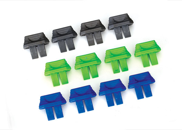 2943 Battery charge indicators (green (4), blue (4), gray (4))