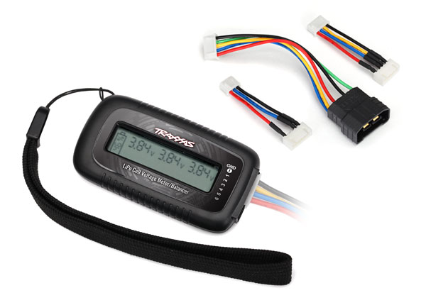 Traxxas 2968X LiPo cell voltage checker / balancer (includes #2938X adapter for Traxxas® iD® batteries)