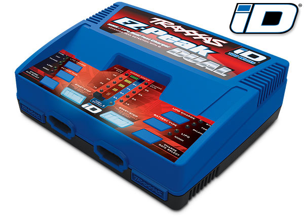 Traxxas 2972 Charger ,  EZ-Peak® Dual ,  100W ,  NiMH / LiPo with iD® Auto Battery Identification