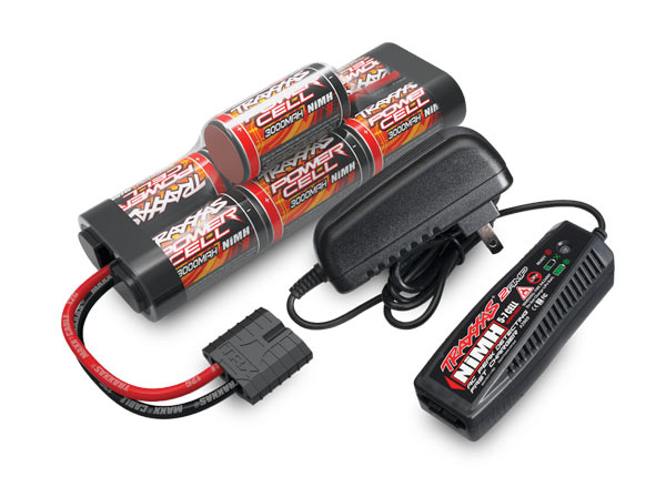 Traxxas 2984 Battery / charger completer pack (includes #2969 2-amp NiMH peak detecting AC charger (1) ,  #2926X 3000mAh 8.4V 7-cell NiMH battery (1))