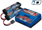 2991 Battery/charger completer pack (includes #2972 Dual iD® charger (1), #2869X 7600mAh 7.4V 2-cell 25C LiPo battery (2))