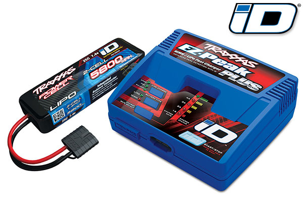 Traxxas 2992 Battery / charger completer pack (includes #2970 iD® charger (1) ,  #2843X 5800mAh 7.4V 2-cell 25C LiPo battery (1))