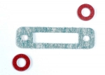3156 Exhaust header gasket (1)/ gaskets, pressure fitting (2) (for side exhaust engines only)