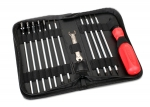 3415 Tool set with pouch (includes 1.5mm, 2.0mm, 2.5mm, 3.0mm, 3.5mm, 4mm drivers/ 4mm, 5mm, 5.5mm, 7mm and 8mm nut drivers/ 2mm, 4mm, and 5mm slotted screwdrivers/ #00 phillips, #0 phillips, and #1 Phillips screwdrivers/ 4mm and 8mm wrench/ driver handle