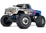 Flame Bigfoot® No. 1: 1/10 Scale Officially Licensed Replica Monster Truck.  Ready-to-Race® with TQ 2.4GHz radio system and XL-5 ESC (fwd/rev).  Includes: 7-Cell NiMH 3000mAh Traxxas® battery