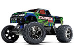 GREEN Stampede® VXL:  1/10 Scale Monster Truck with TQi Traxxas Link™ Enabled 2.4GHz Radio System & Traxxas Stability Management (TSM)®