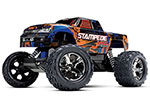ORANGE Stampede® VXL:  1/10 Scale Monster Truck with TQi Traxxas Link™ Enabled 2.4GHz Radio System & Traxxas Stability Management (TSM)®