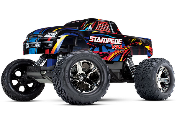 Traxxas Stampede VXL TSM | 1/10 Scale Monster Truck with TQi Traxxas