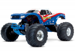 Red, White, Blu Bigfoot®: 1/10 Scale Officially Licensed Replica Monster Truck.  Ready-to-Race® with TQi 2.4GHz radio system and XL-5 ESC (fwd/rev).  Includes: 7-Cell NiMH 3000mAh Traxxas battery