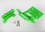 3621A Bumper, front / bumper mount, front / 4x23mm RM (2)/ 3x10mm RST (2) (green)
