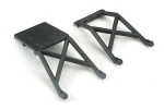 3623 Skid plates, front & rear (black)