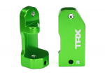 3632G Caster blocks, 30-degree, green-anodized 6061-T6 aluminum (left & right)/ suspension screw pin (2)