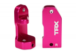 3632P Caster blocks, 30-degree, pink-anodized 6061-T6 aluminum (left & right)/ suspension screw pin (2)
