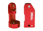 3632X Caster blocks, 30-degree, red-anodized 6061-T6 aluminum (left & right)/ suspension screw pin (2)