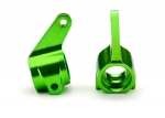 3636G Steering blocks, Rustler®/Stampede®/Bandit (2), 6061-T6 aluminum (green-anodized)/ 5x11mm ball bearings (4)