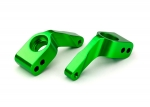 3652G Stub axle carriers, Rustler®/Stampede®/Bandit (2), 6061-T6 aluminum (green-anodized)/ 5x11mm ball bearings (4)