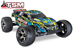 37076-4 Rustler VXL:  1/10 Scale Stadium Truck with TQi Traxxas Link Enabled 2.4GHz Radio System & Traxxas Stability Management (TSM)